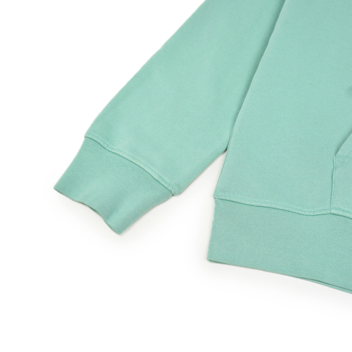 Colorful Standard Classic Organic Cotton Hood Sweat Faded Mint arm