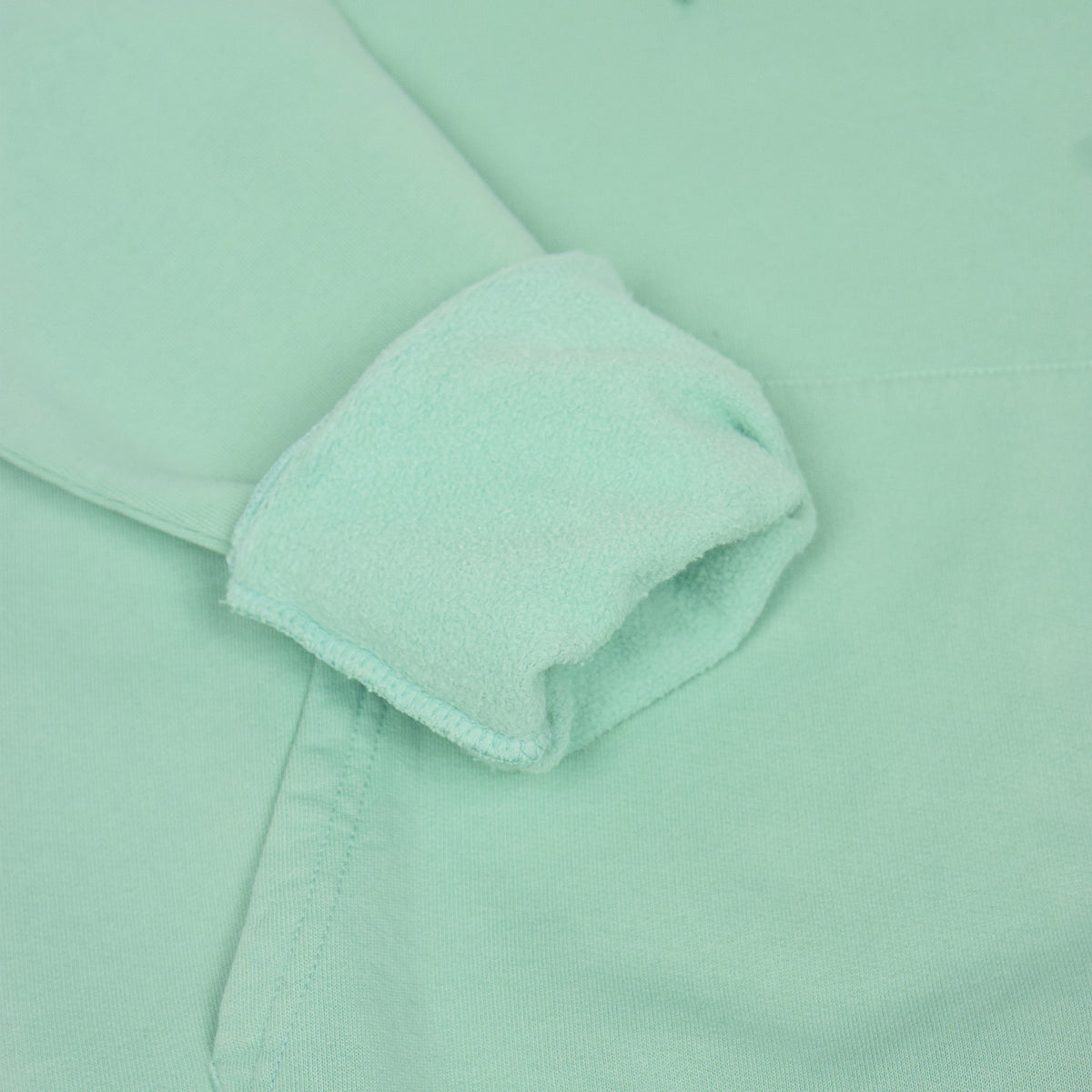 Colorful Standard Classic Organic Cotton Hood Sweat Faded Mint rolled cuff