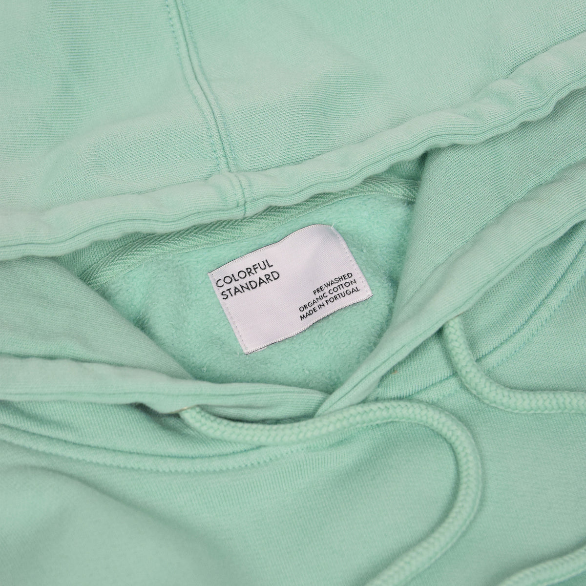 Colorful Standard Classic Organic Cotton Hood Sweat Faded Mint label