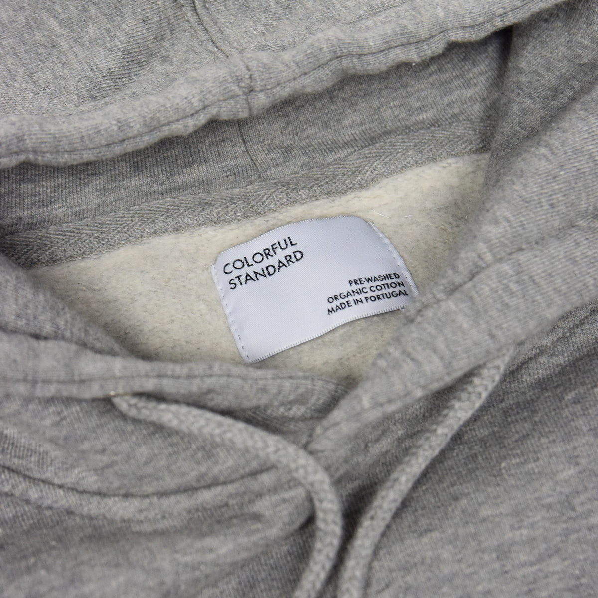 Colorful Standard Classic Organic Cotton Hood Sweat Heather Grey label