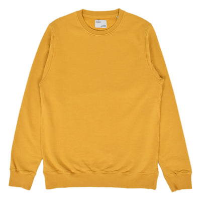 Colorful Standard Classic Organic Cotton Crew Sweat Burned Yellow front