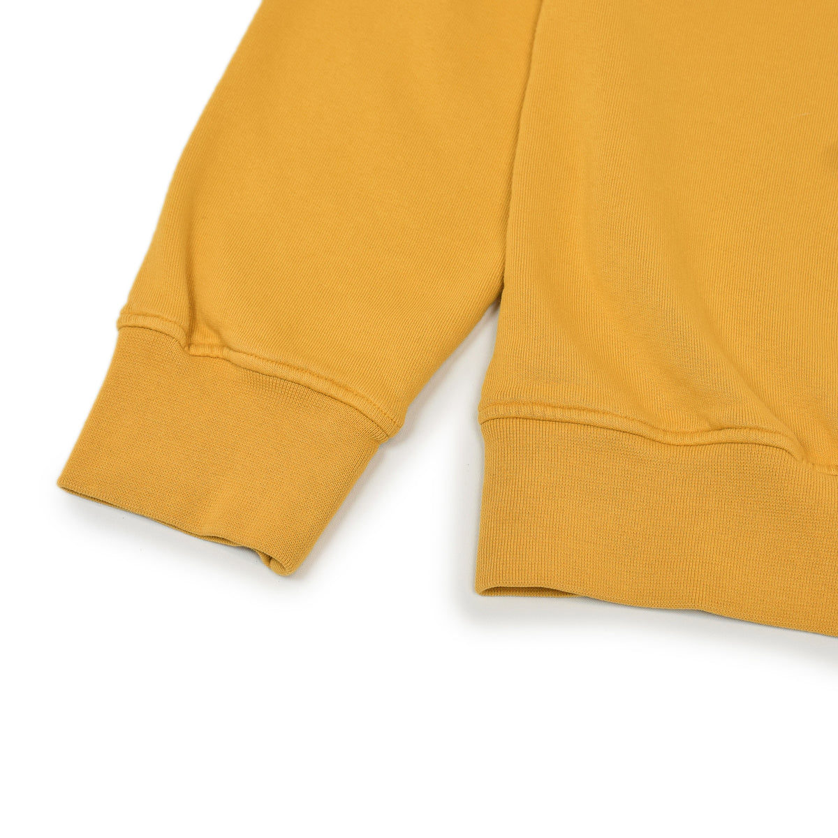Colorful Standard Classic Organic Cotton Crew Sweat Burned Yellow cuff