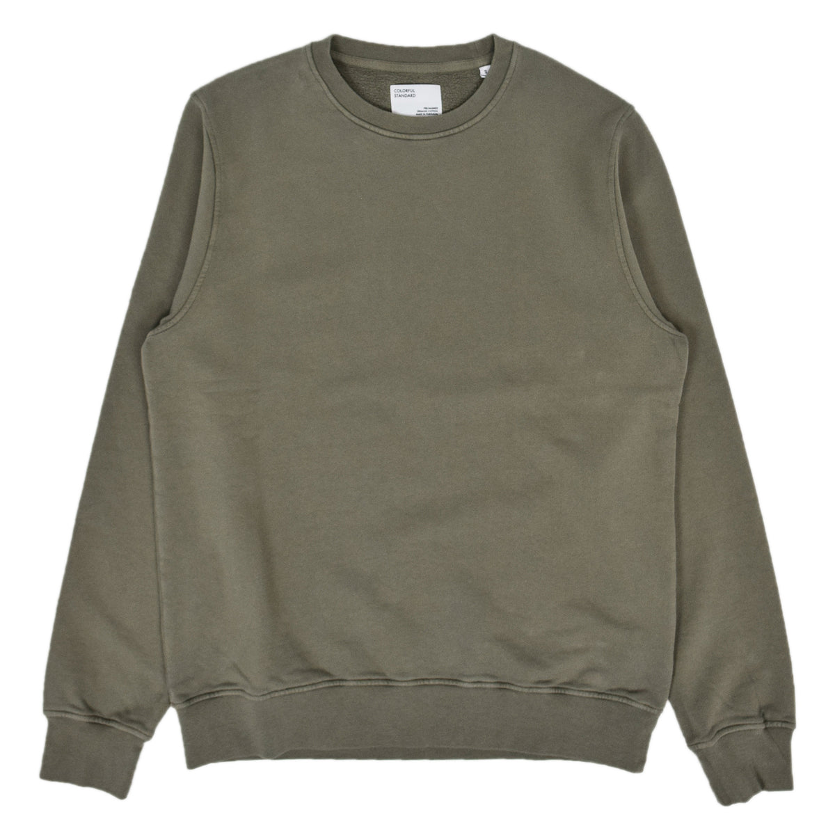 Colorful Standard Classic Organic Cotton Crew Sweat Dusty Olive front