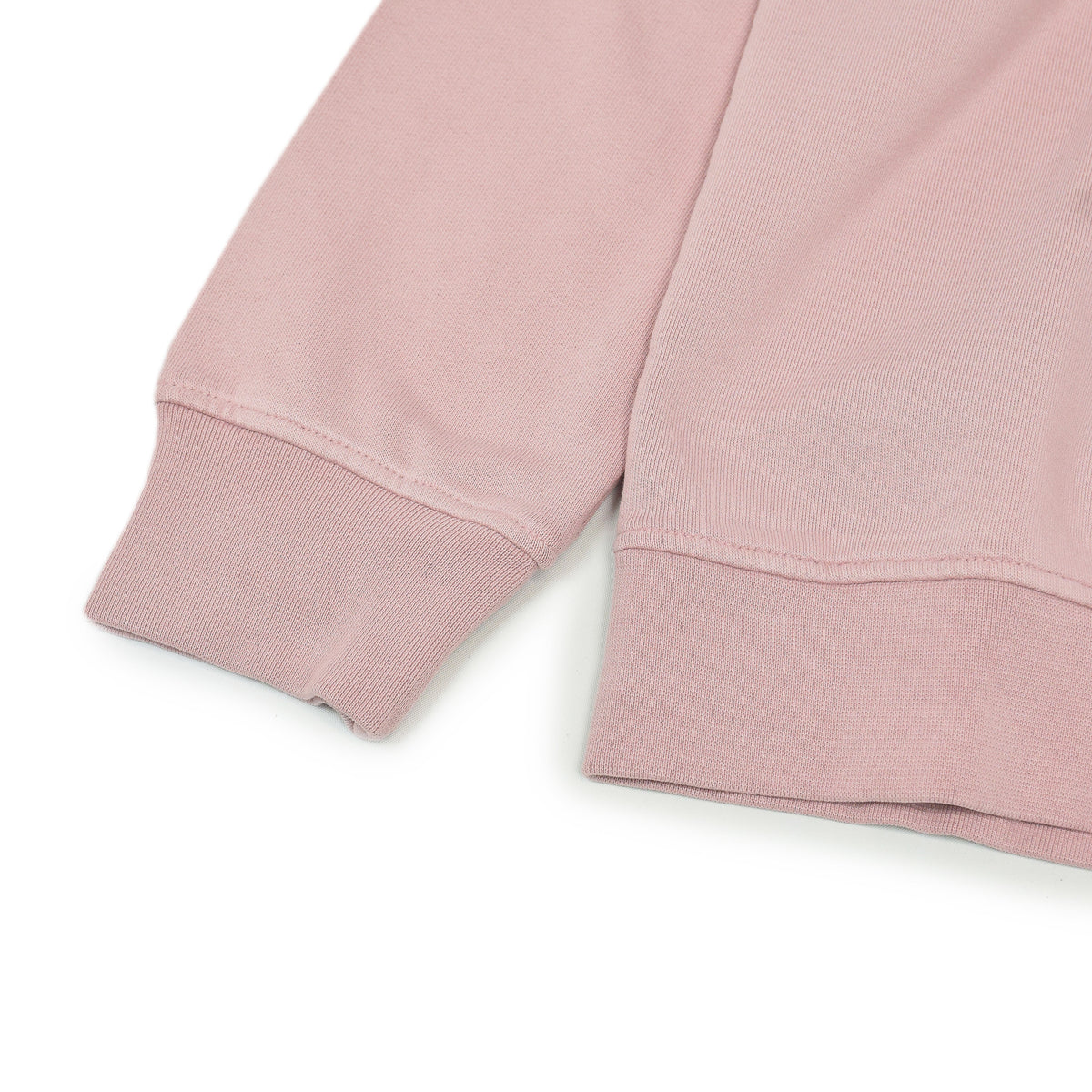 Colorful Standard Classic Organic Cotton Crew Sweat Faded Pink cuff ribbed