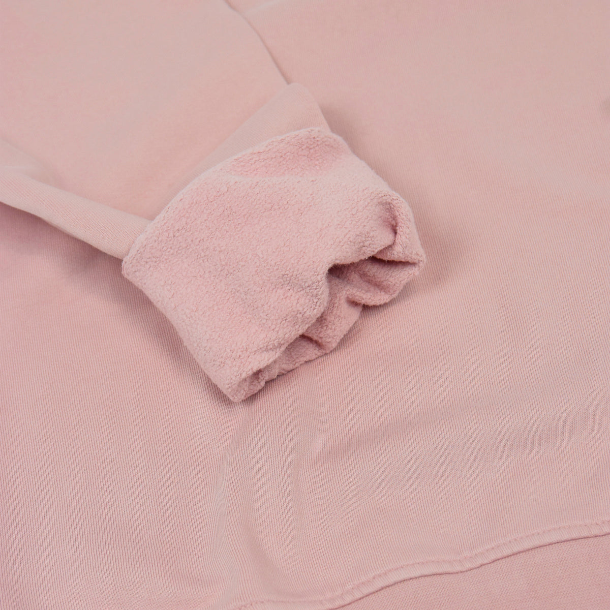 Colorful Standard Classic Organic Cotton Crew Sweat Faded Pink cuff
