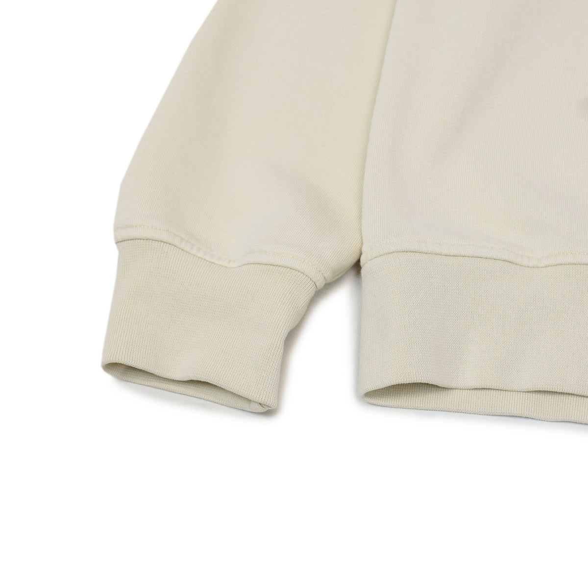 Colorful Standard Classic Organic Cotton Crew Sweat Ivory White cuff