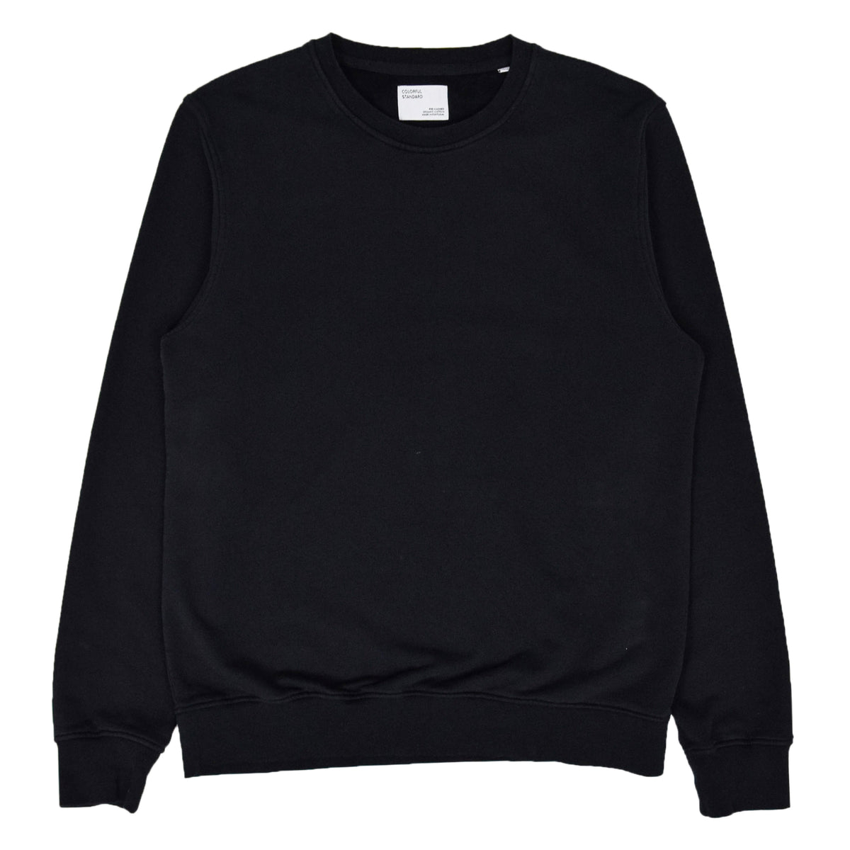 Colorful Standard Classic Organic Cotton Crew Sweat Deep Black front