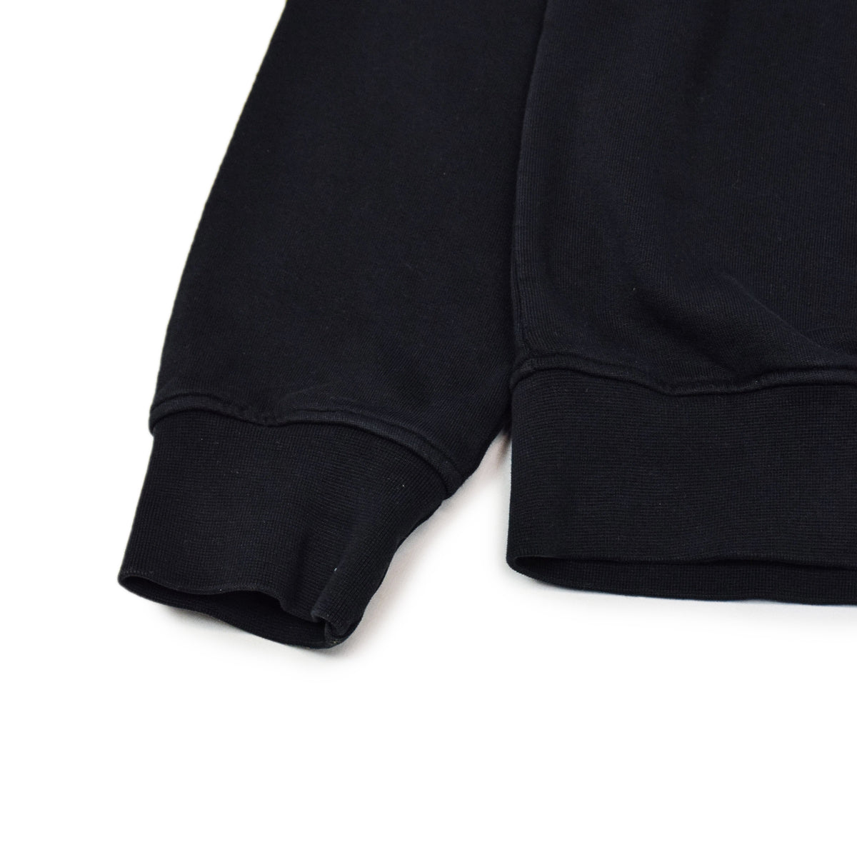 Colorful Standard Classic Organic Cotton Crew Sweat Deep Black cuff
