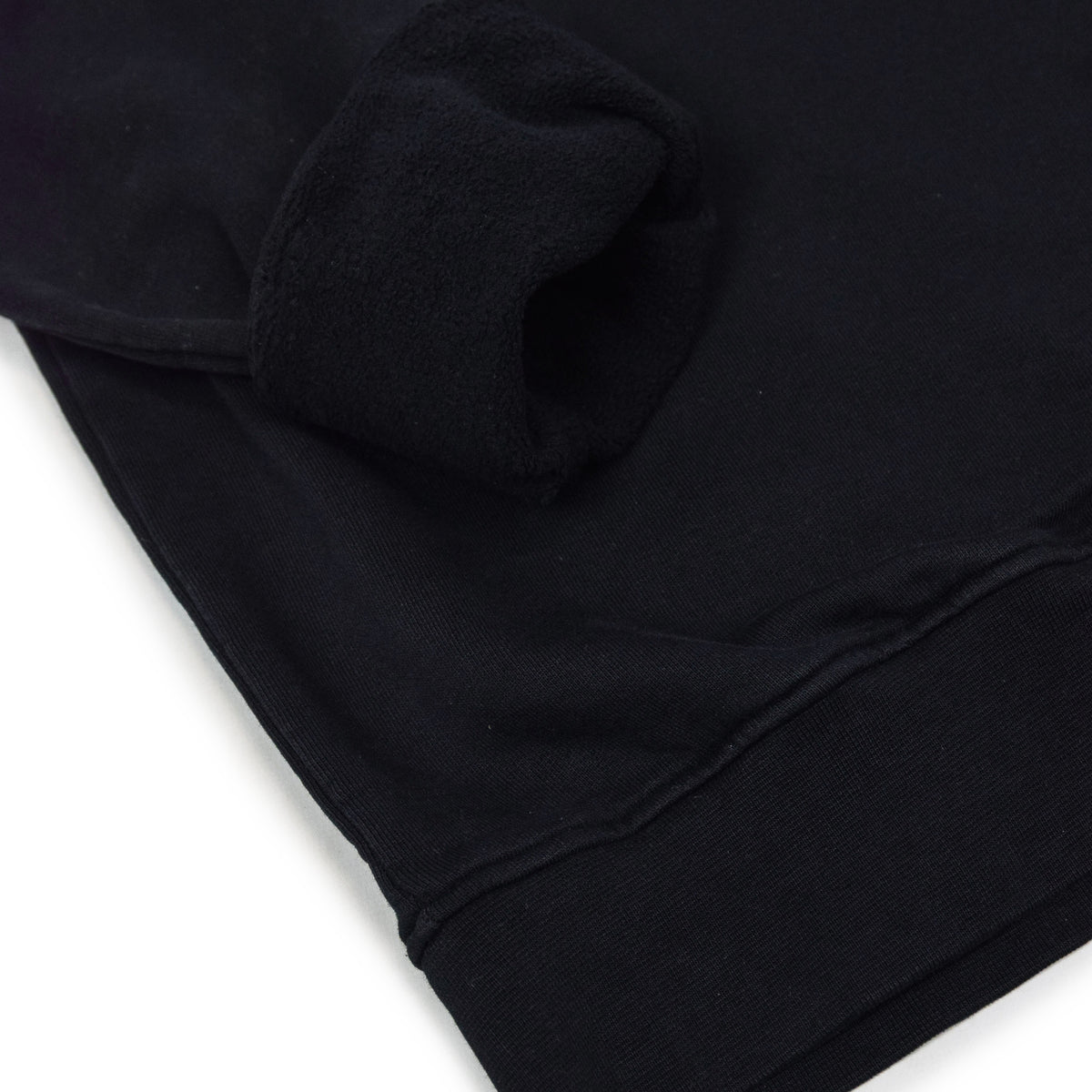 Colorful Standard Classic Organic Cotton Crew Sweat Deep Black cuff rolled