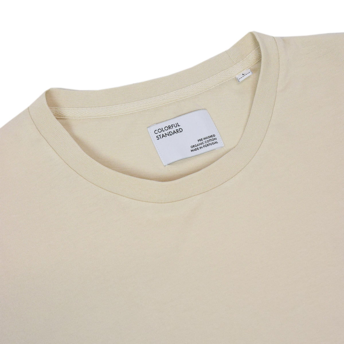 Colorful Standard Classic Organic Cotton Tee Ivory White collar