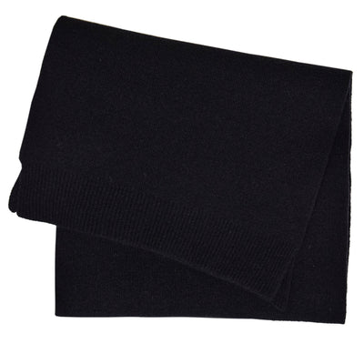 Colorful Standard Merino Wool Unisex Scarf Deep Black front