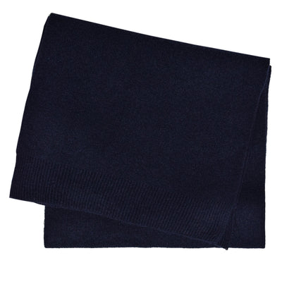Colorful Standard Classic Organic Cotton Scarf Navy Blue frontColorful Standard Merino Wool Unisex Scarf Navy Blue FRONT