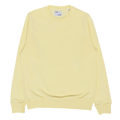 Colorful Standard Classic Organic Cotton Crew Sweat Soft Yellow FRONT