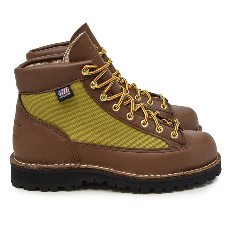 Danner Light Leather And Nylon Gore-Tex Boot Khaki Side