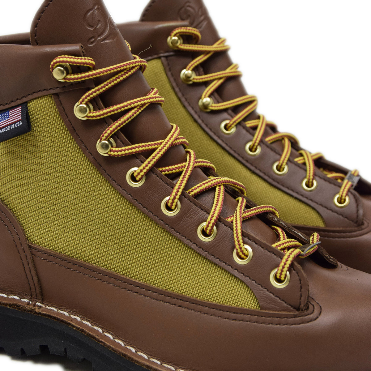 Danner Light Leather And Nylon Gore-Tex Boot Khaki Laces