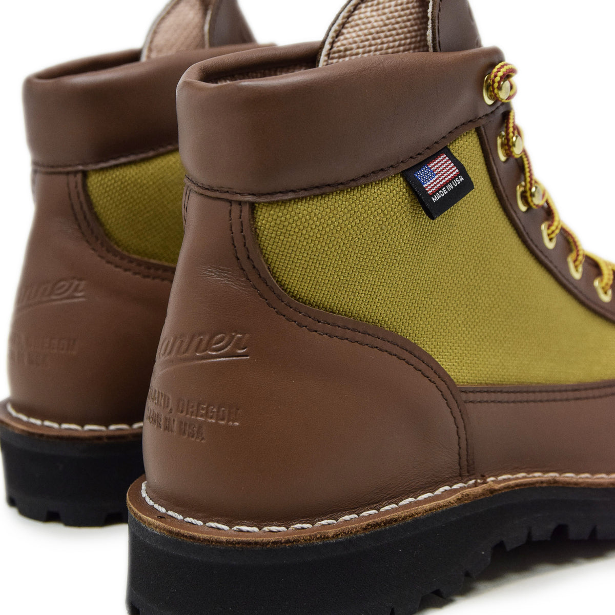 Danner Light Leather And Nylon Gore-Tex Boot Khaki Heel