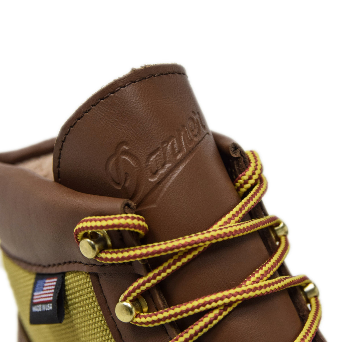 Danner Light Leather And Nylon Gore-Tex Boot Khaki Embossed