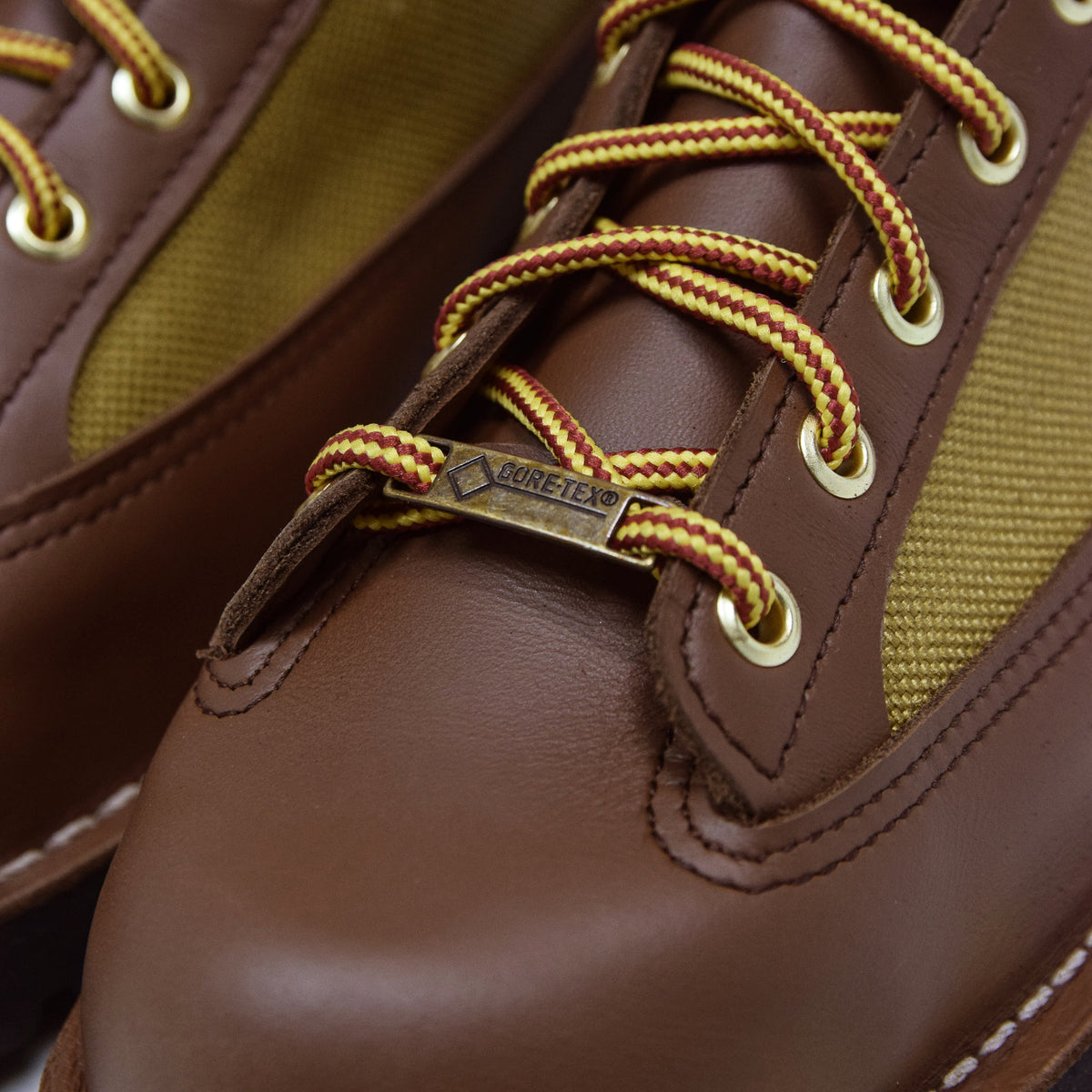 Danner Light Leather And Nylon Gore-Tex Boot Khaki Gore-Tex
