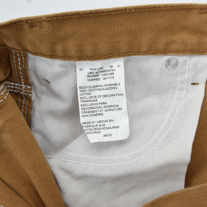 Vintage Dickies Workwear Brown Duck Canvas Work Pants Utility Trousers 34 W 32 L label