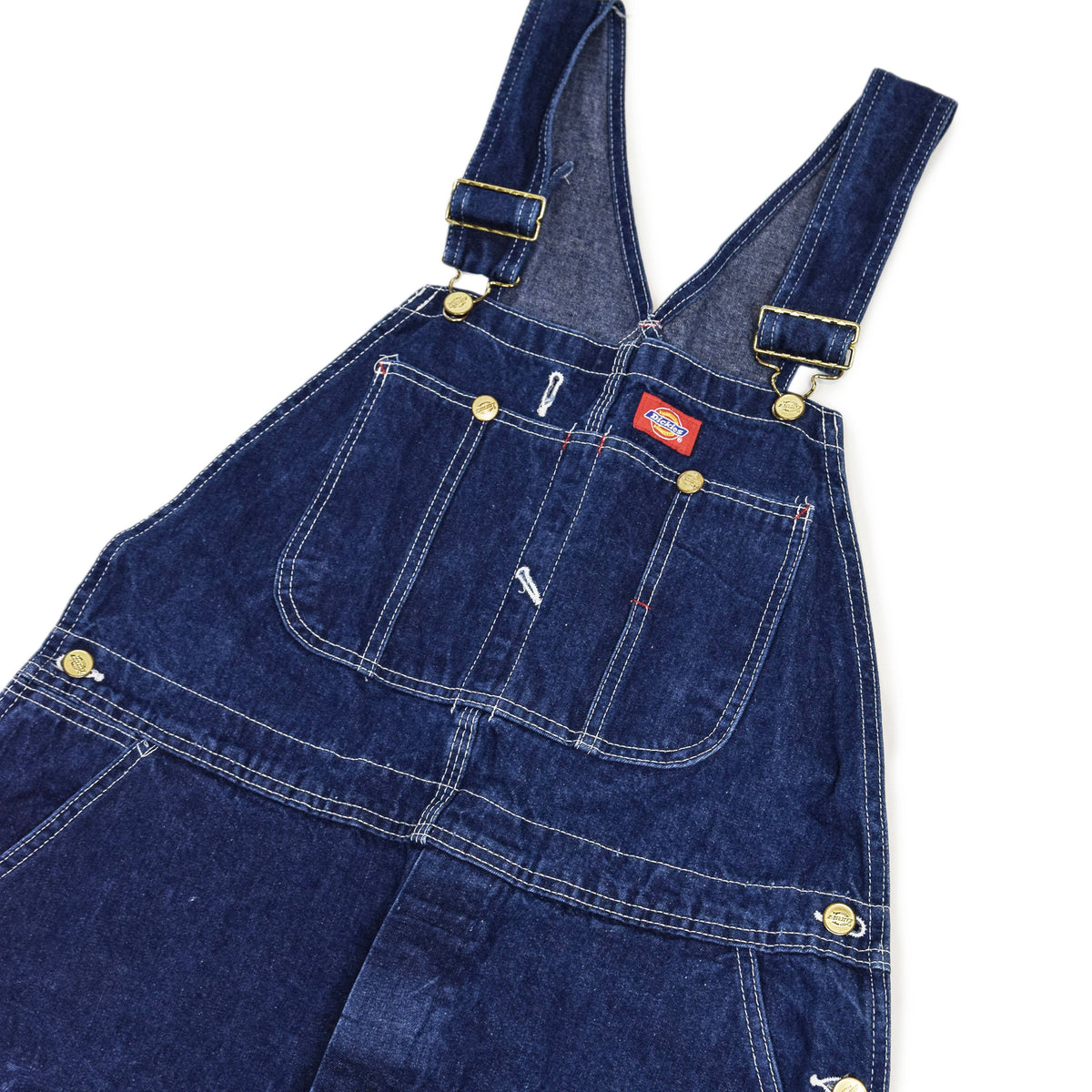 Vintage Dickies Denim Work Dungarees Blue Bib Overalls Trousers M chest