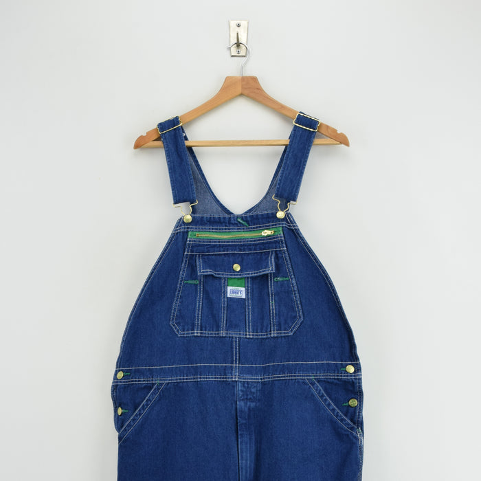 Vintage Liberty Denim Work Dungarees Blue Bib Overalls Trousers M / L 32-34 W front