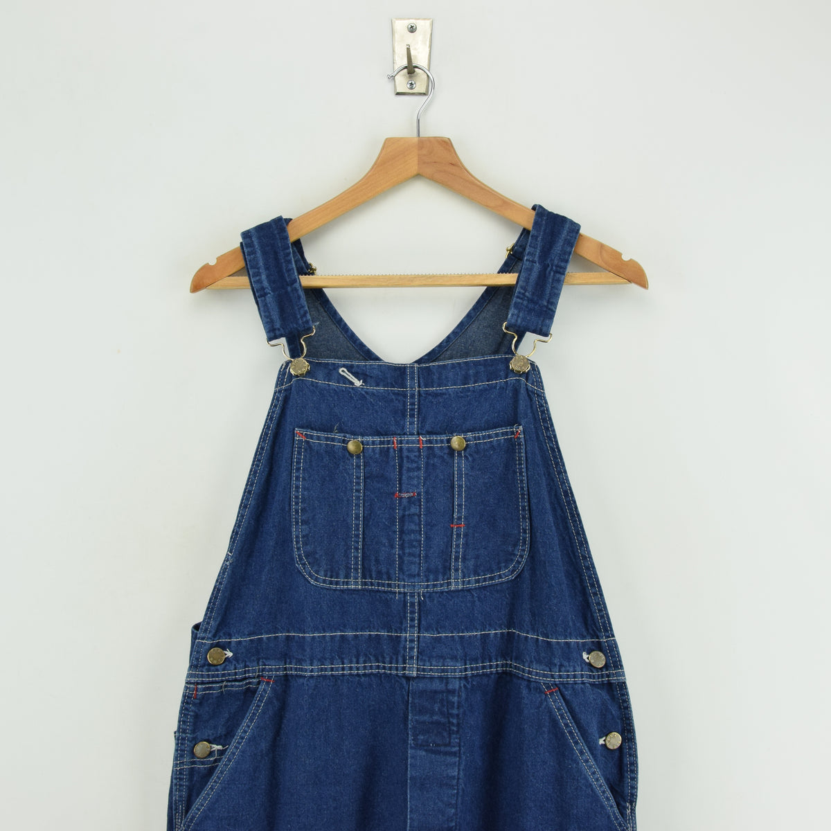 Vintage Big Yank Denim Work Dungarees Blue Bib Overalls Trousers Med 32 W chest