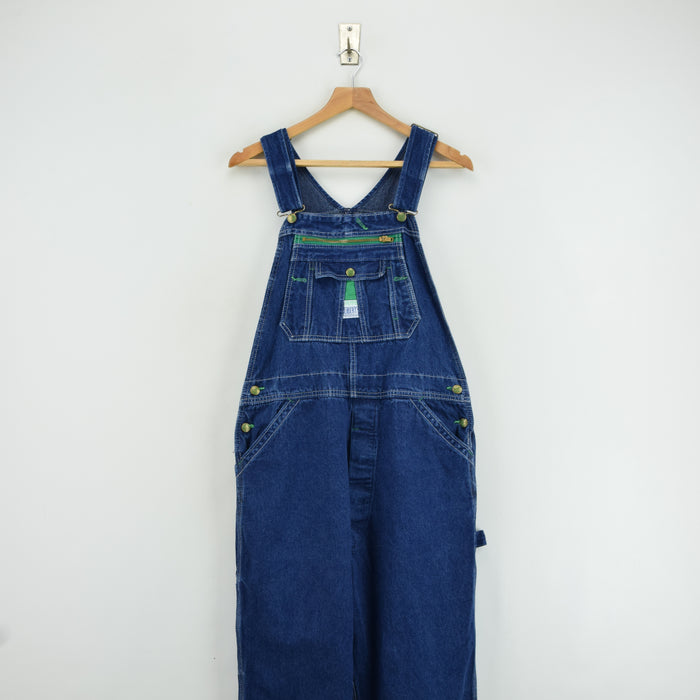 Vintage Liberty Denim Work Dungarees Blue Bib Overalls Trousers Small 30 W front