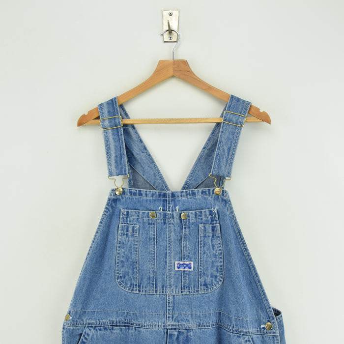 Vintage Big Smith Denim Work Dungarees Blue Bib Overalls Trousers L / XL chest