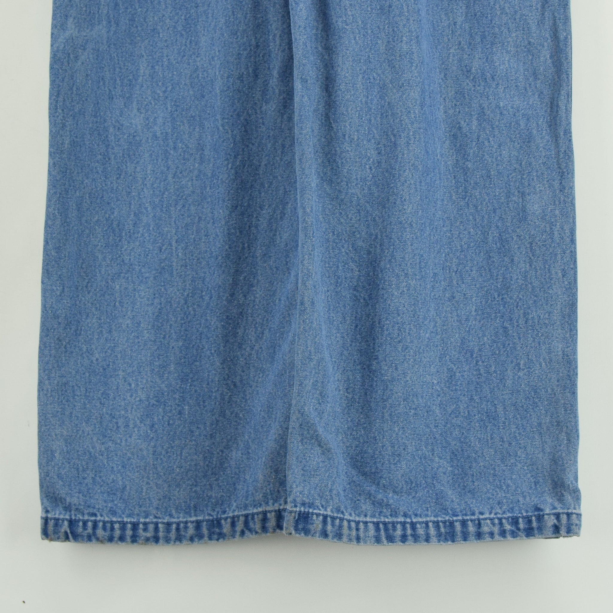 Vintage Big Smith Denim Work Dungarees Blue Bib Overalls Trousers L / XL back legs