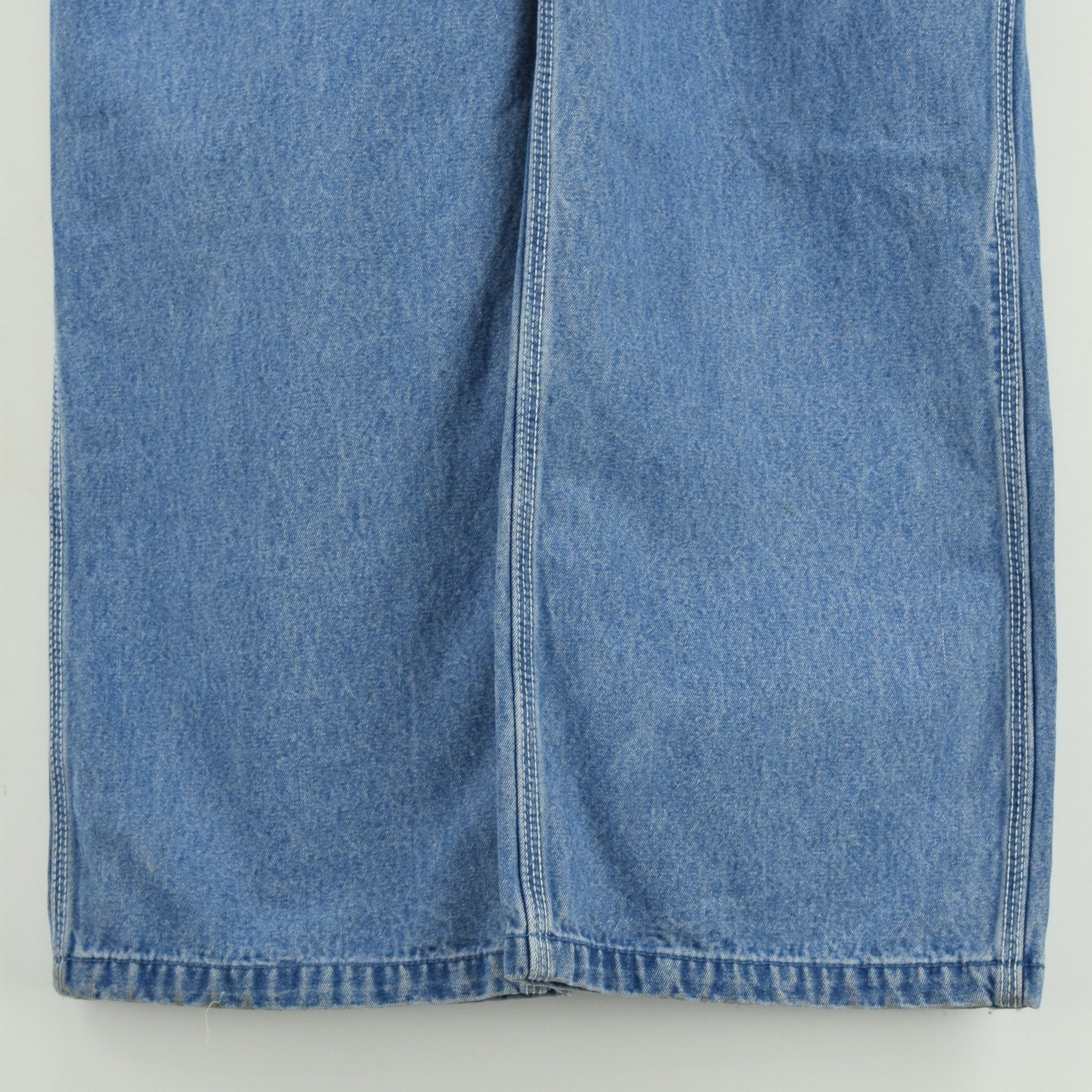Vintage Big Smith Denim Work Dungarees Blue Bib Overalls Trousers L / XL front legs