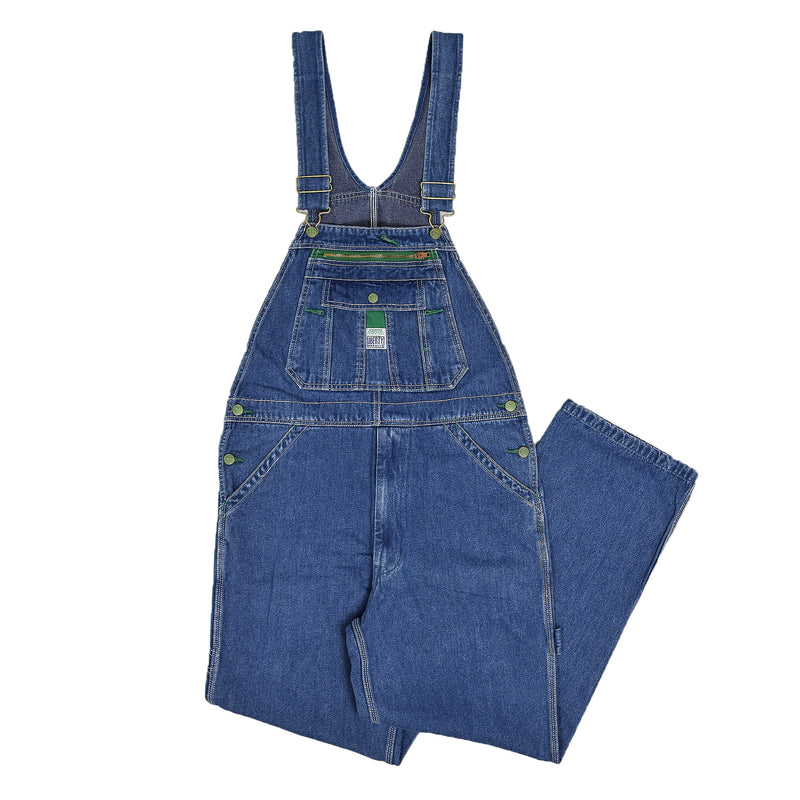 Vintage Liberty Denim Work Dungarees Blue Bib Overalls Trousers S front