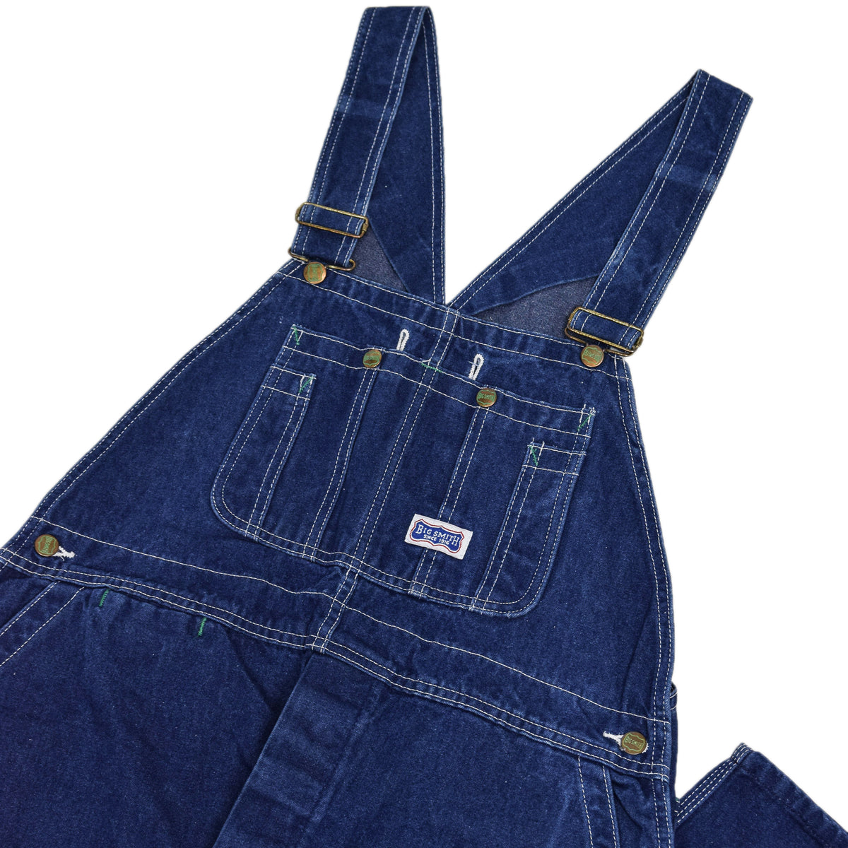 Vintage Big Smith Denim Work Dungarees Blue Bib Overalls Trousers M CHEST