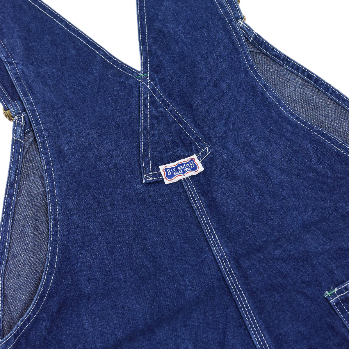 Vintage Big Smith Denim Work Dungarees Blue Bib Overalls Trousers M BSCK DETAIL