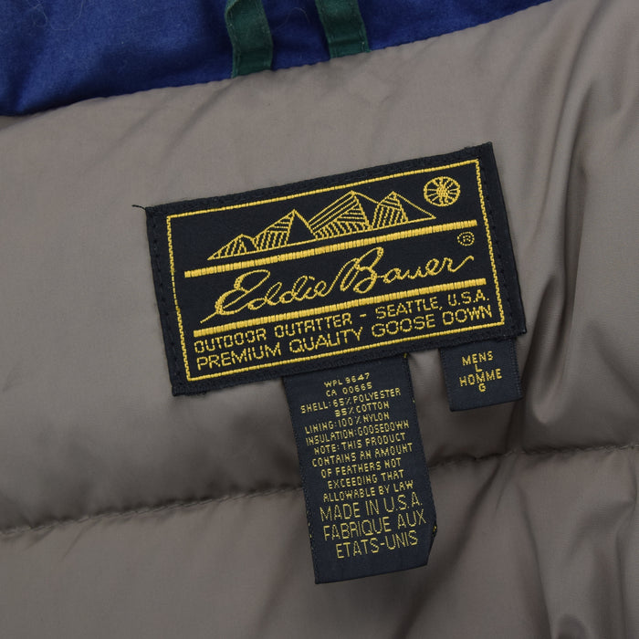 Vintage Eddie Bauer Ridgeline Goose Down Coat Mountain Parka Jacket USA Made L label