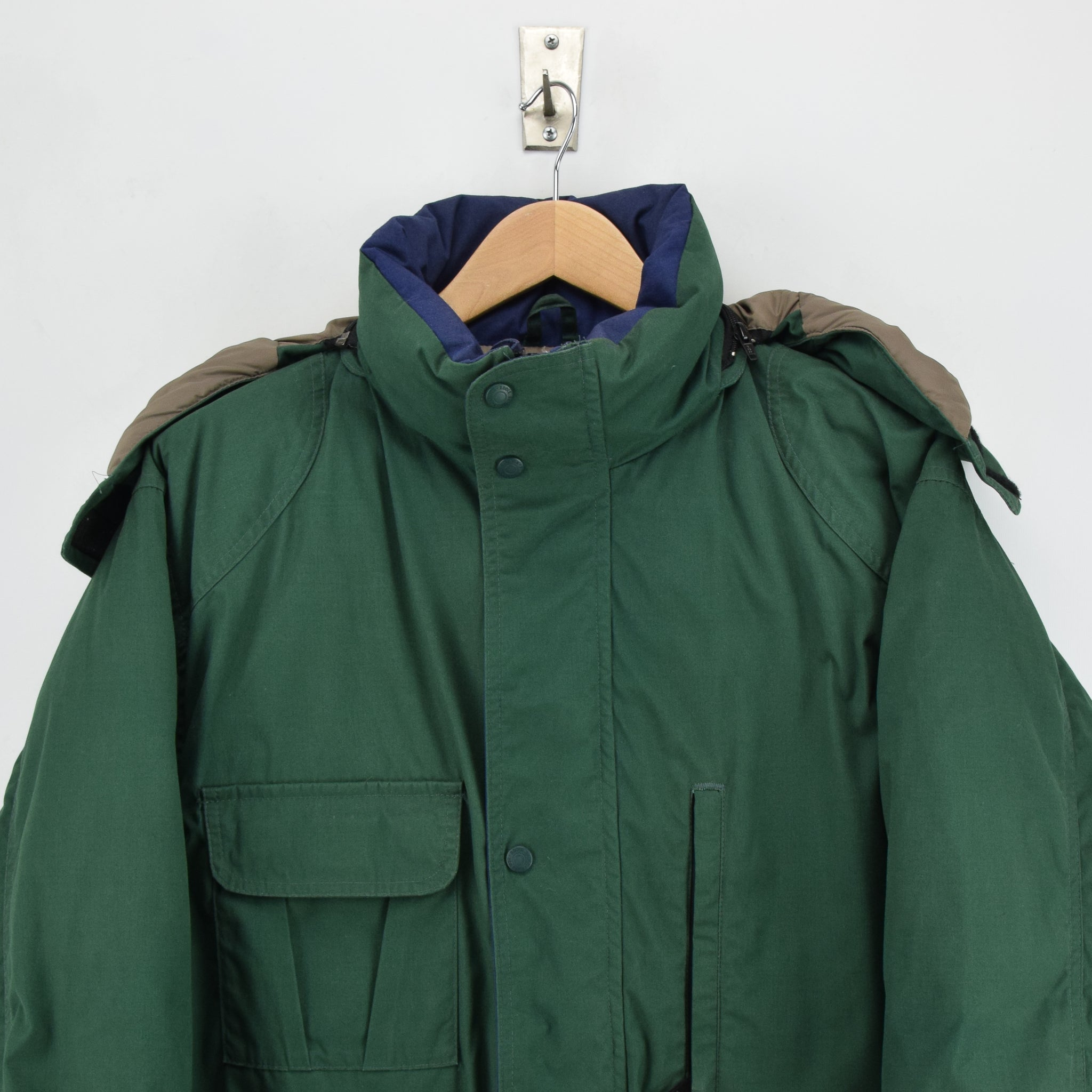Vintage Eddie Bauer Ridgeline Goose Down Coat Mountain Parka Jacket USA Made L chest
