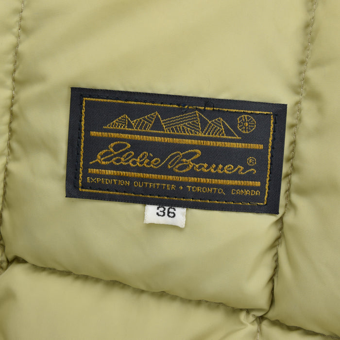 Vintage Eddie Bauer Quilted Gilet Goose Down Bodywarmer Made in Canada S label