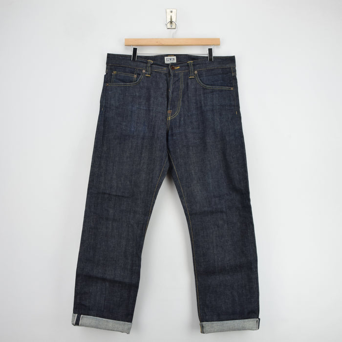 Edwin Selvedge ED-39 Japanese Denim Regular Loose Jeans 34 W 32 L front