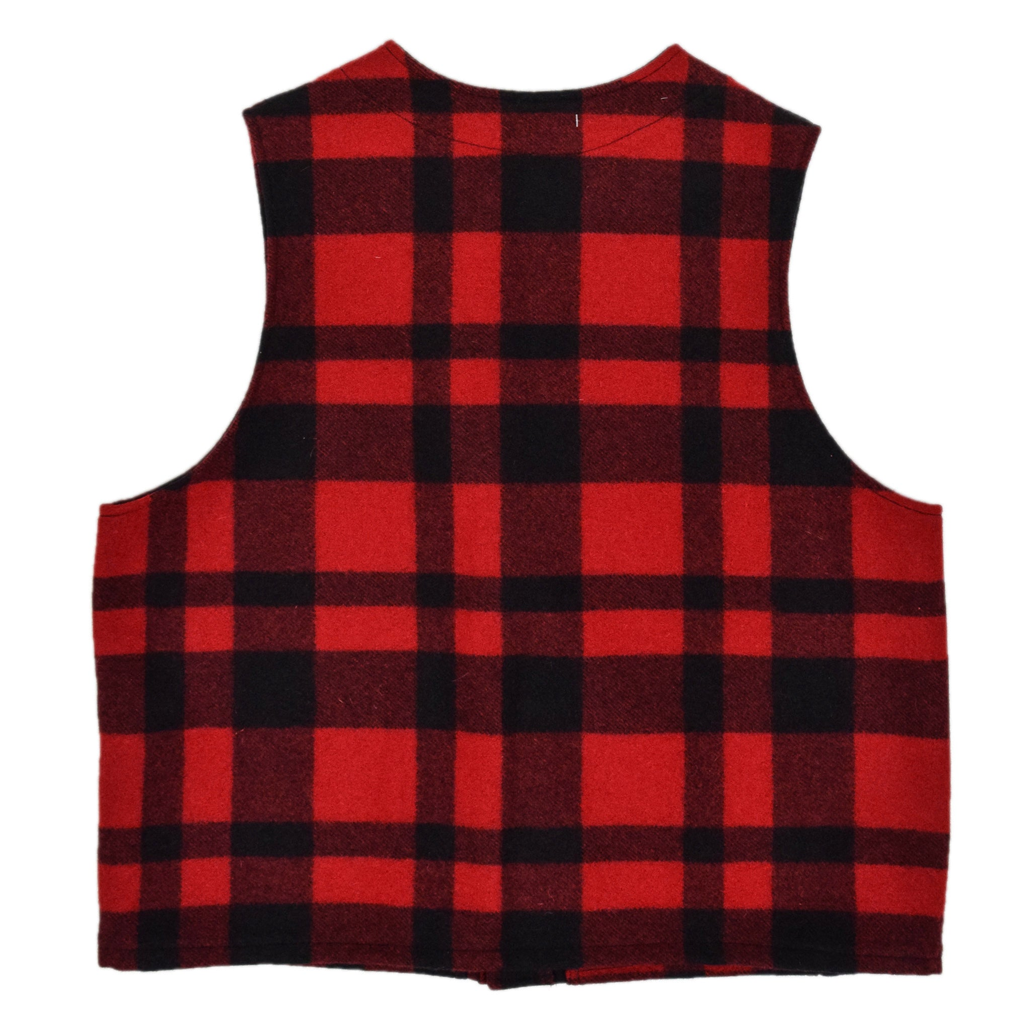 Filson Plaid Mackinaw Wool Hunting Cruiser Waistcoat Vest Made in USA XXL labels