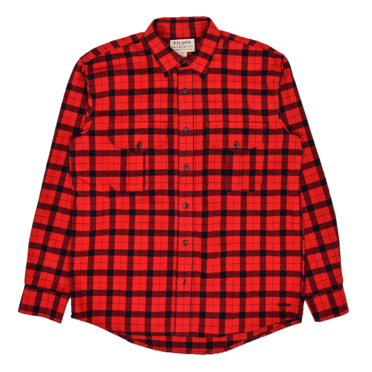 Filson Alaskan Guide Cotton Flannel Shirt Red/Black front