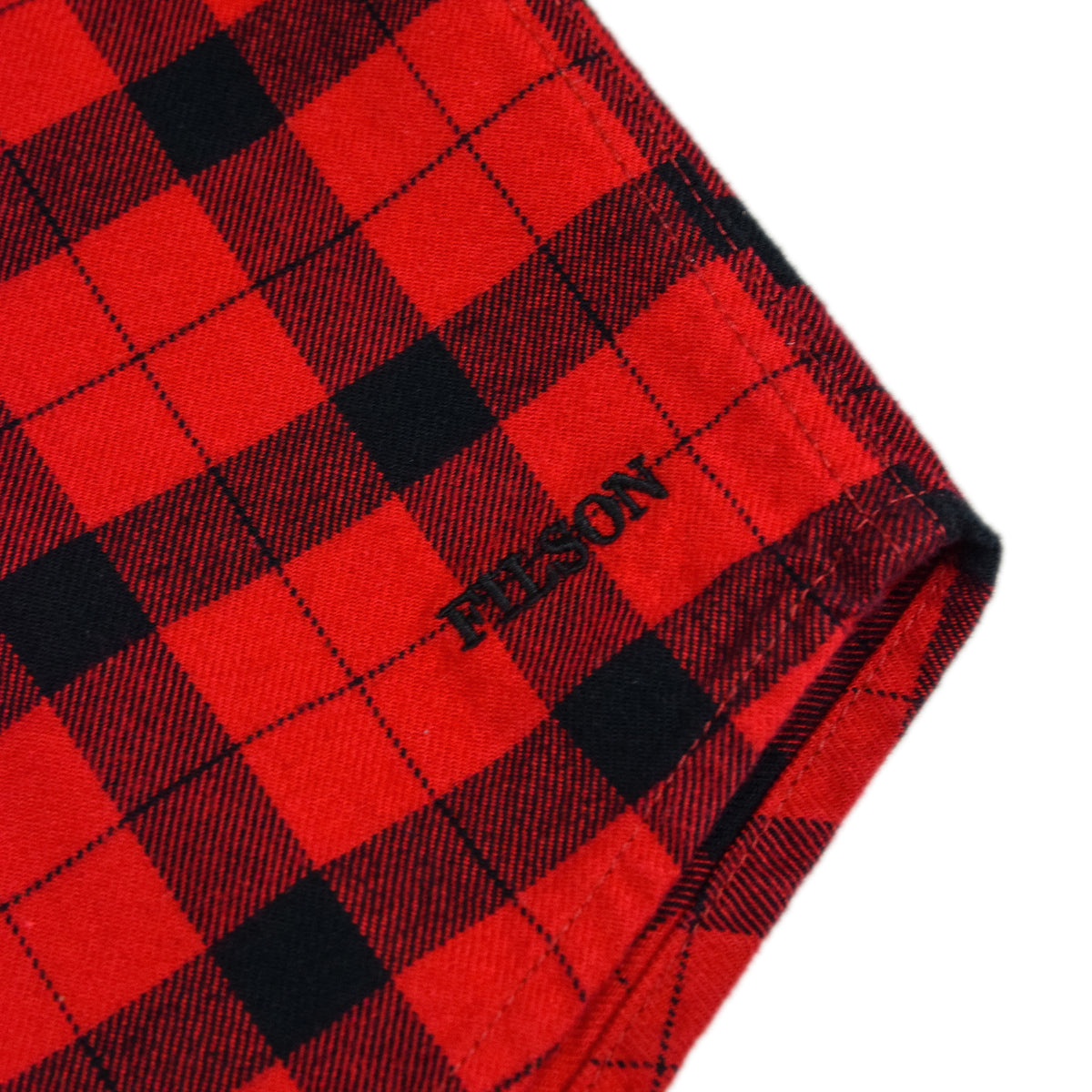 Filson Alaskan Guide Cotton Flannel Shirt Red/Black Embroidery