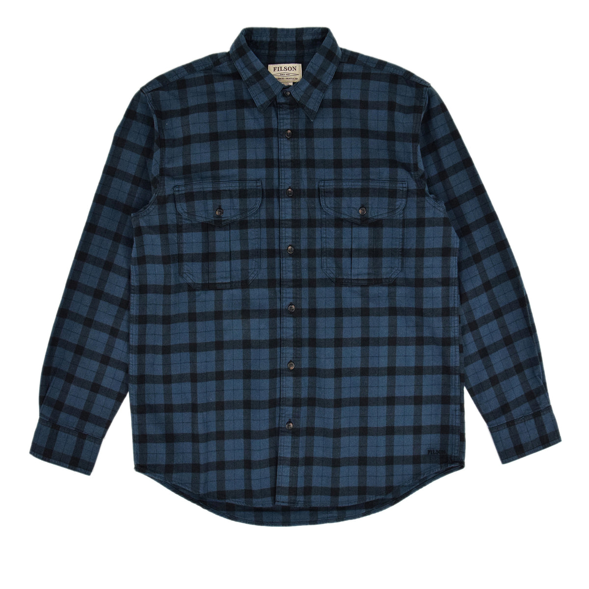 Filson Alaskan Guide Cotton Flannel Shirt Blue/Black Front