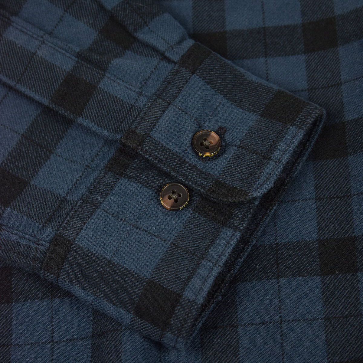 Filson Alaskan Guide Cotton Flannel Shirt Blue/Black Cuff