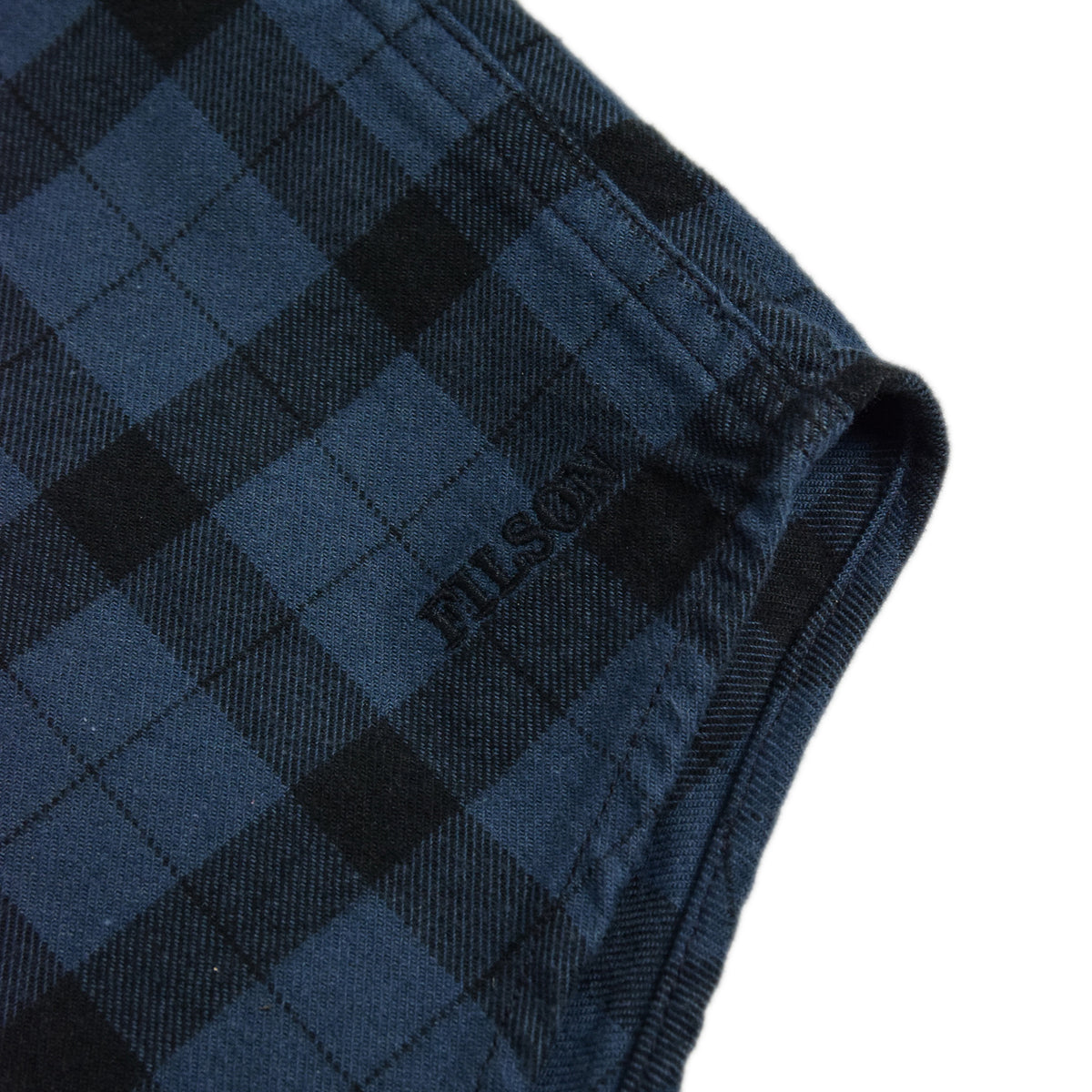 Filson Alaskan Guide Cotton Flannel Shirt Blue/Black Seam