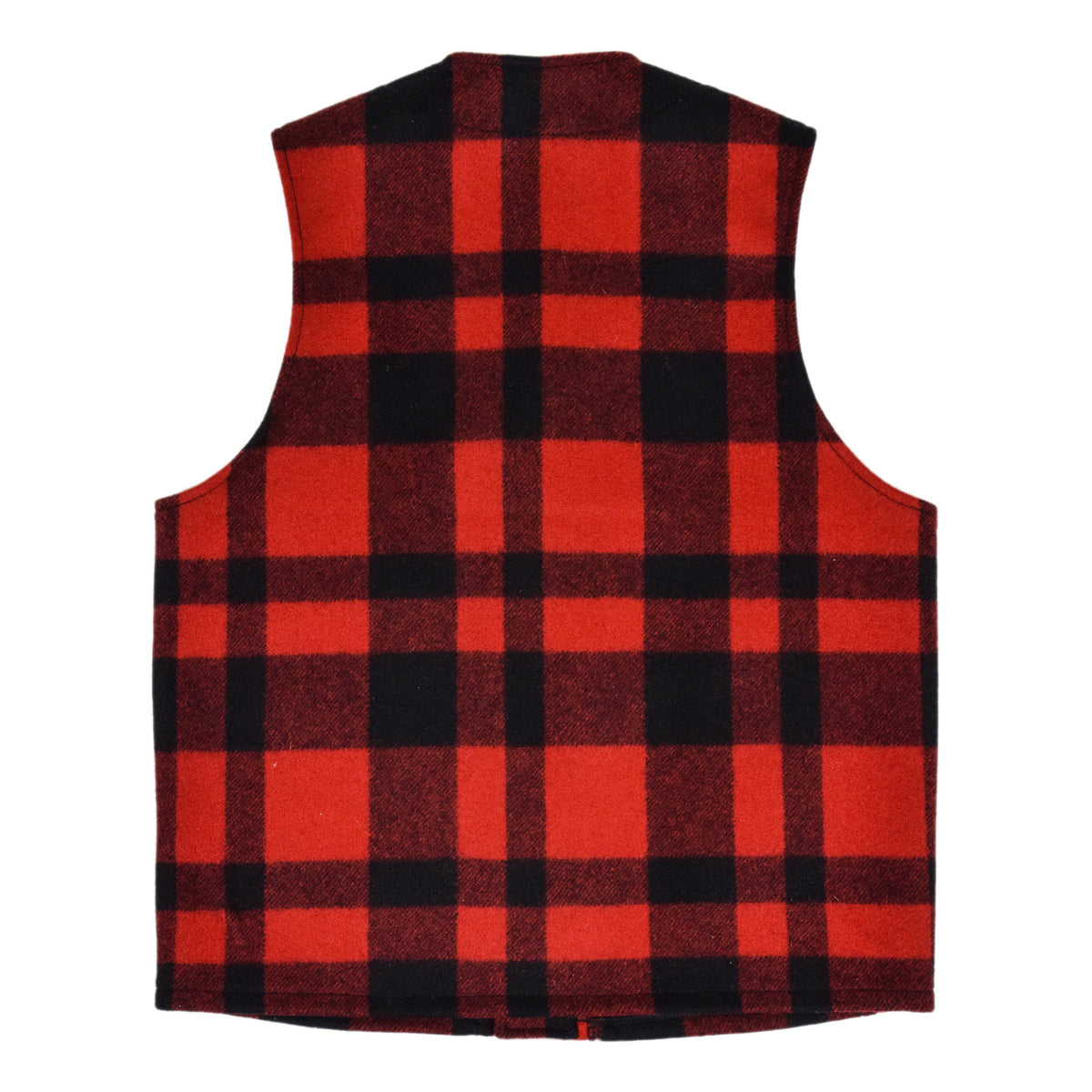 Filson Mackinaw Wool Vest Red Black Back