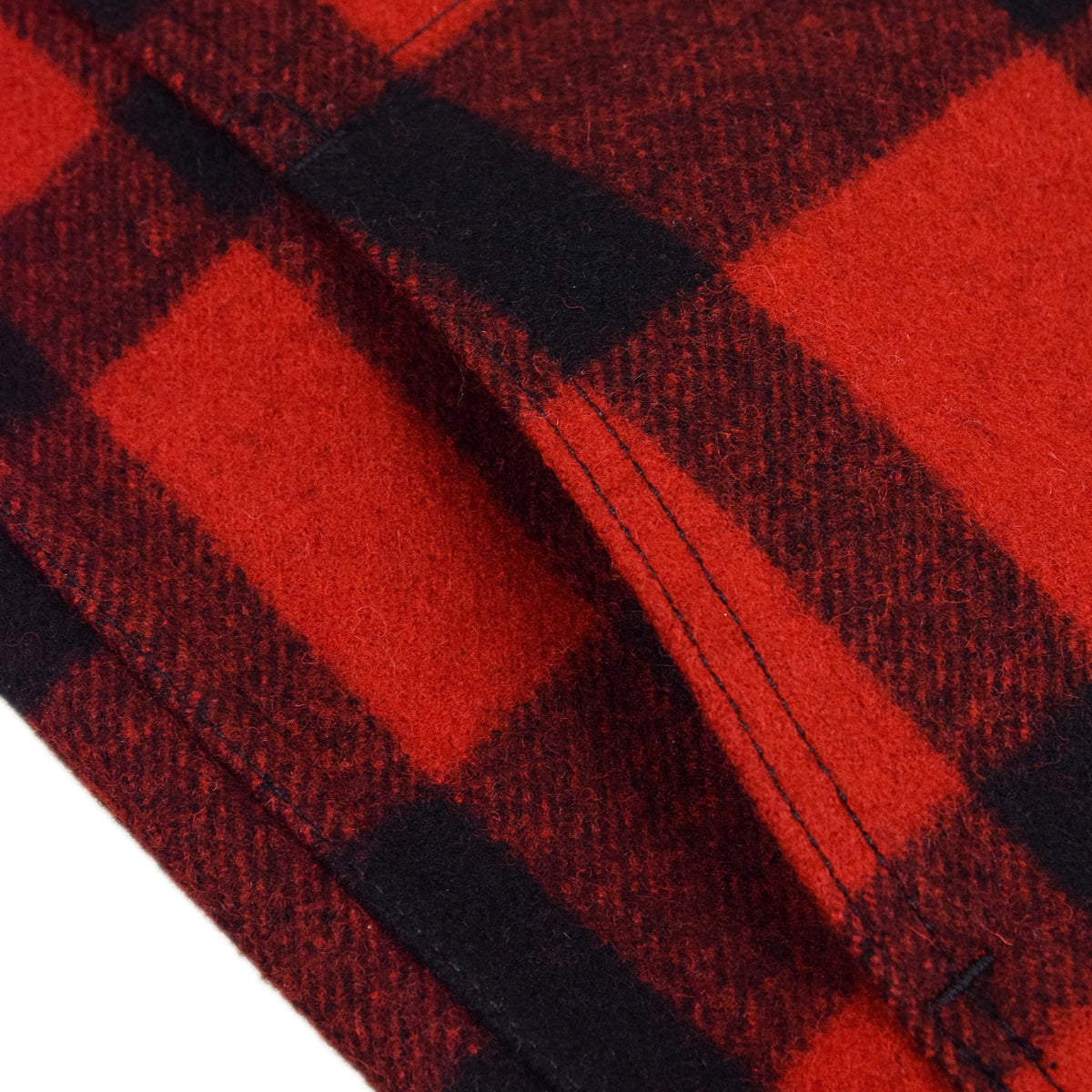 Filson Mackinaw Wool Vest Red Black Left Hand Pocket