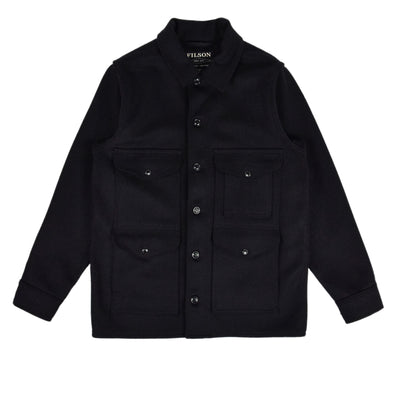 Filson Mackinaw Wool Cruiser Navy Jacket Front