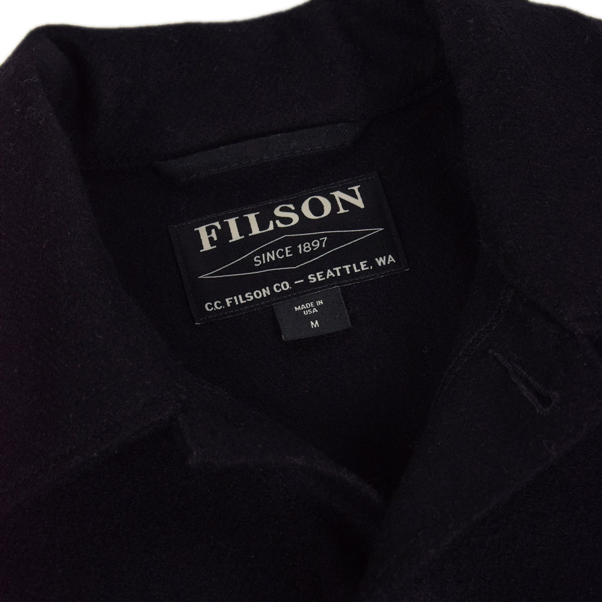 Filson Mackinaw Wool Cruiser Navy Jacket