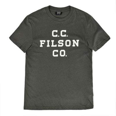 Filson Lightweight Graphic Outfitter T-Shirt Charcoal front