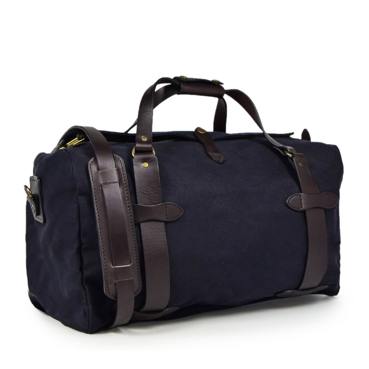 Filson Rugged Twill Carry-On Duffle Bag Navy Side