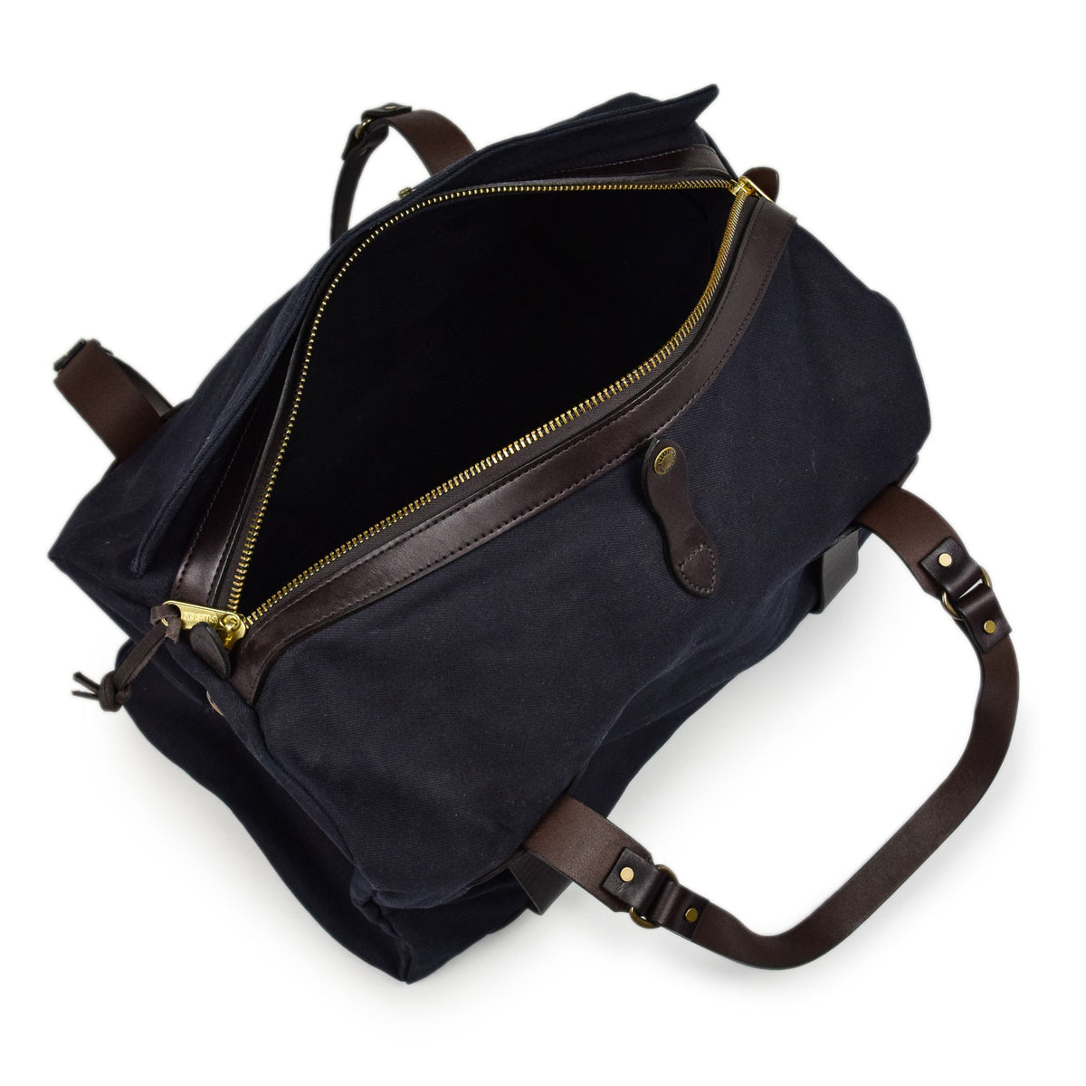 Filson Rugged Twill Carry-On Duffle Bag Navy Inside Shot